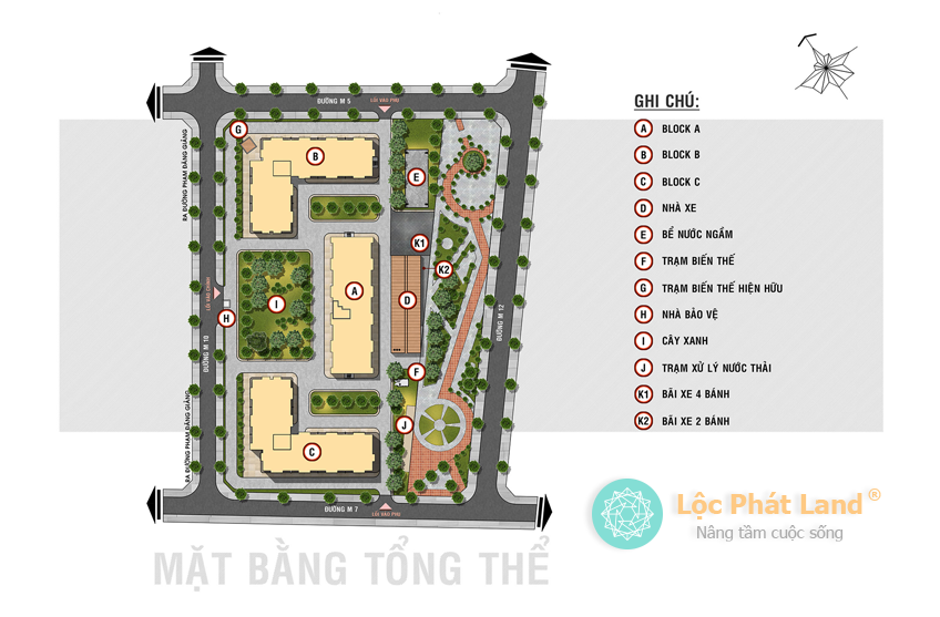Mặt bằng dự án chung cư Bình Phú