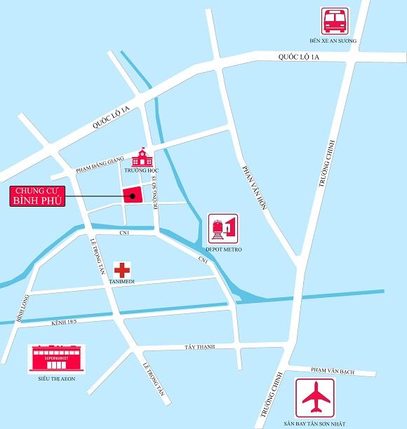 Vị trí dự án chung cư Bình Phú