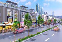 Trục đường chính dự án đất nền Hoàng Lộc Dragon City 2