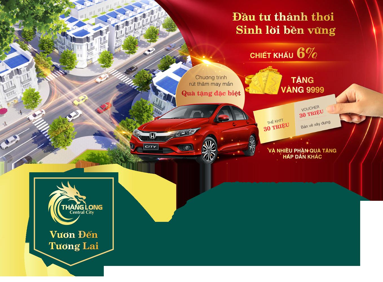 Chính sách ưu đãi khi mua dự án Thăng Long Central City