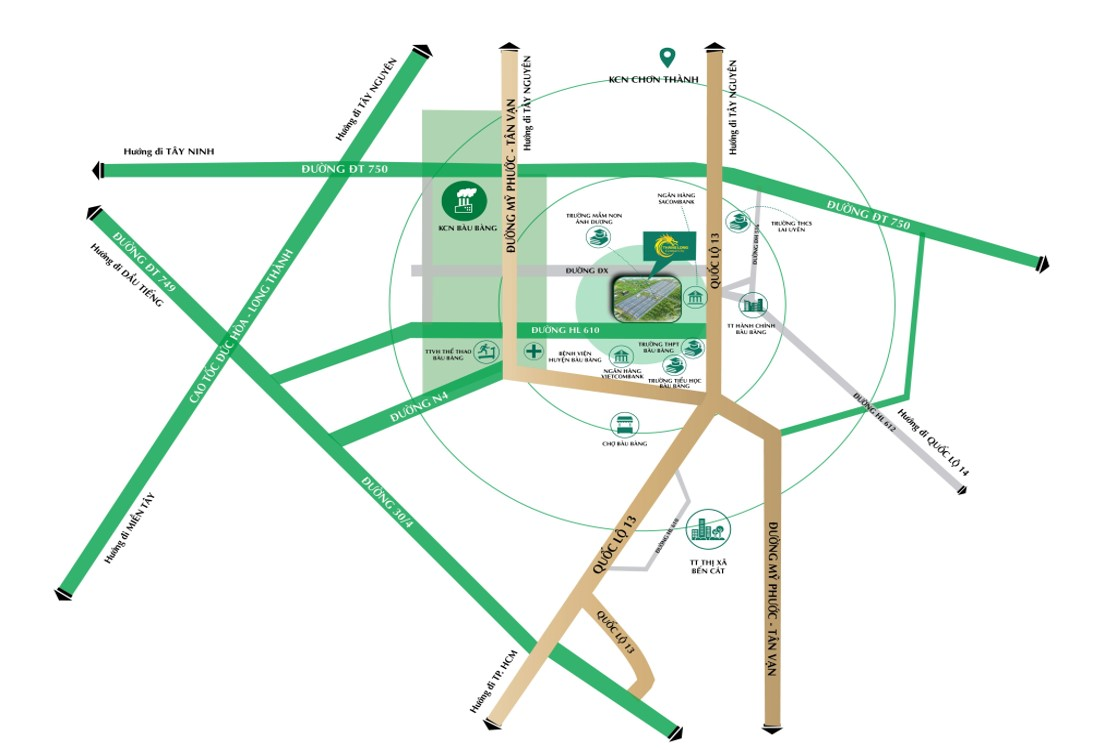 Vị trí Thăng Long Central City